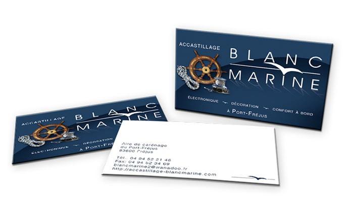 Carte De Visite Blanc Marine